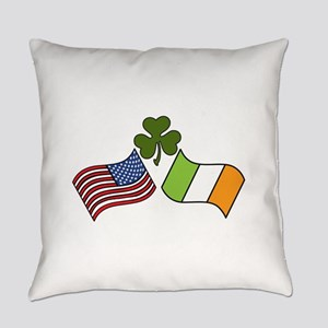 American Irish Flag Everyday Pillow