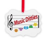 Music Ditties Picture Ornament