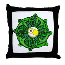 Irish Invader 9 Ball St Patricks Day Throw Pillow