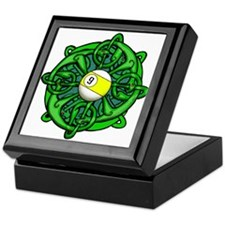Irish Invader 9 Ball St Patricks Day Keepsake Box