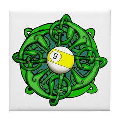 Irish Invader 9 Ball St Patricks Day Tile Coaster