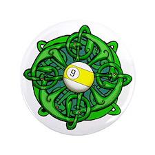 Irish Invader 9 Ball St Patricks Day Button