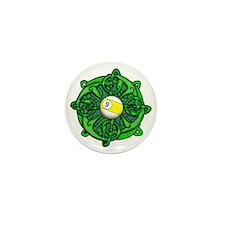 Irish Invader 9 Ball St Patricks Day Mini Button