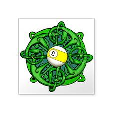 Irish Invader 9 Ball Square Sticker 3