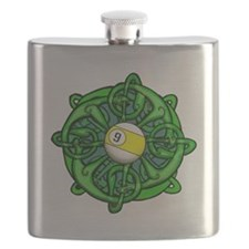 Irish Invader 9 Ball St Patricks Day Flask