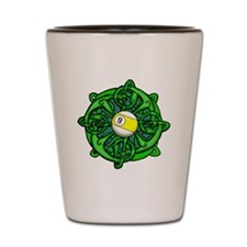 Irish Invader 9 Ball St Patricks Day Shot Glass