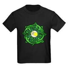 Irish Invader 9 Ball Kids Dark T-Shirt