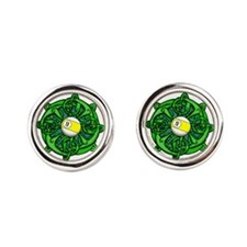 Irish Invader 9 Ball St Patricks D Round Cufflinks