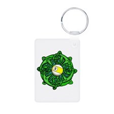 Irish Invader 9 Ball Aluminum Photo Keychain