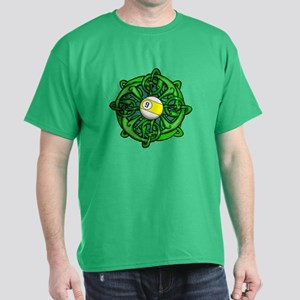 Irish Invader 9 Ball St Patricks Day Dark T-Shirt
