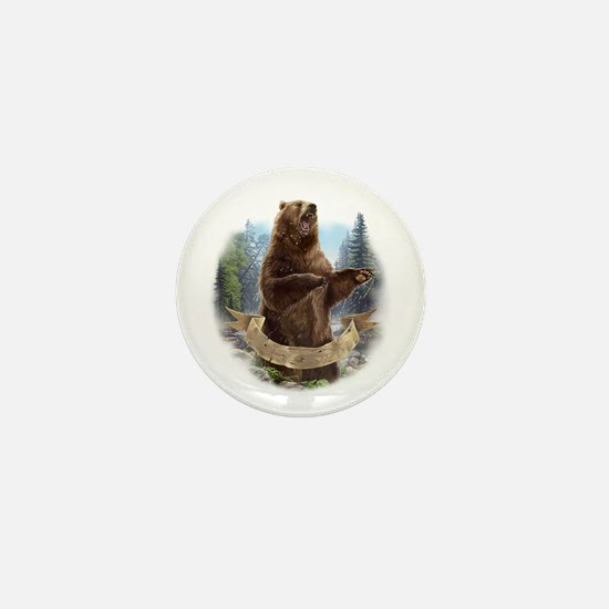 Grizzly Bear Mini Button