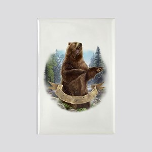 Grizzly Bear Rectangle Magnet