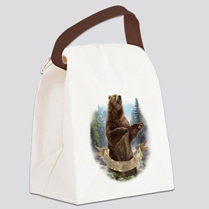 Grizzly Bear Canvas Lunch Bag