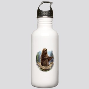 Grizzly Bear Stainless Water Bottle 1.0L