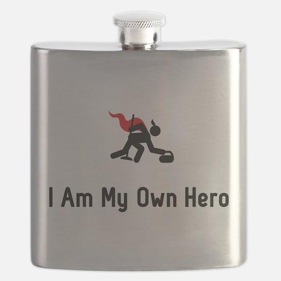 Curling Hero Flask