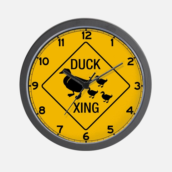 Duck Crossing, USA Wall Clock
