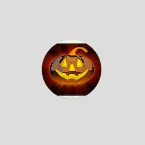 Glossy Halloween Pumpkin Mini Button