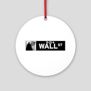 Wall Street, New York - USA Round Ornament