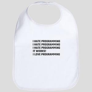 I Love Programming Bib