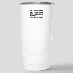 I Love Programming Stainless Steel Travel Mug