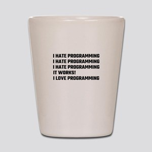 I Love Programming Shot Glass