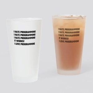 I Love Programming Drinking Glass
