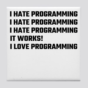 I Love Programming Tile Coaster
