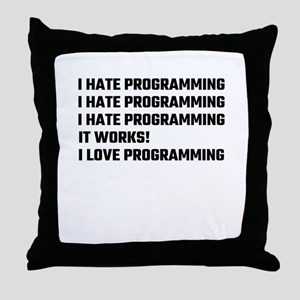 I Love Programming Throw Pillow