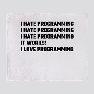 I Love Programming Throw Blanket