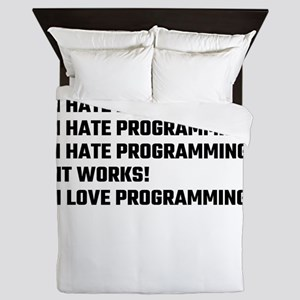 I Love Programming Queen Duvet