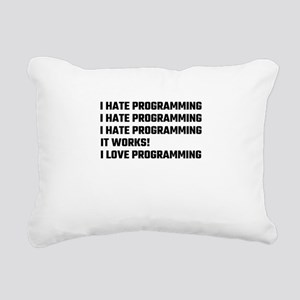 I Love Programming Rectangular Canvas Pillow