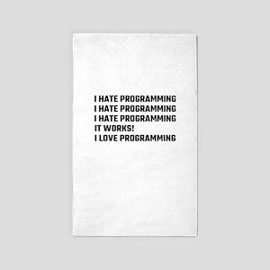 I Love Programming Area Rug
