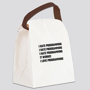 I Love Programming Canvas Lunch Bag