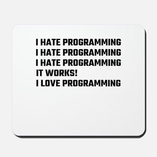 I Love Programming Mousepad