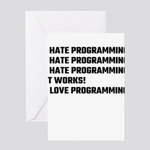I Love Programming Greeting Cards