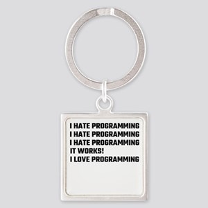 I Love Programming Keychains