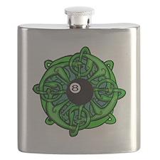 Irish 8 Ball Pool Player St Patricks Day Flask