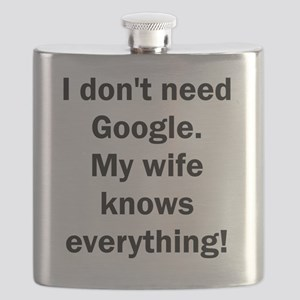 I don't need Google. My wife knows everythin Flask