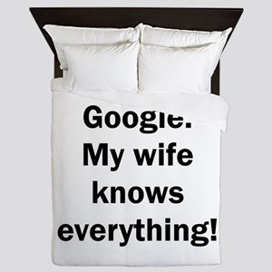 I don't need Google. My wife knows eve Queen Duvet
