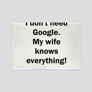 I don't need Google. My wife knows everyth Magnets