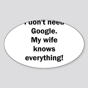 I don't need Google. My wife knows everyth Sticker
