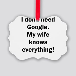 I don't need Google. My wife know Picture Ornament