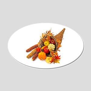 Thanksgiving Cornucopia 20x12 Oval Wall Decal