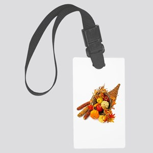 Thanksgiving Cornucopia Large Luggage Tag