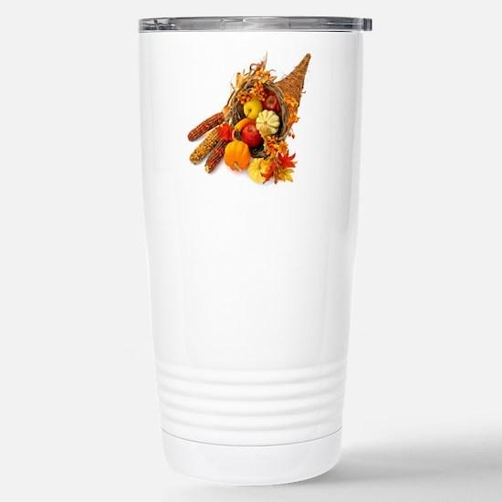 Thanksgiving Cornucopia Stainless Steel Travel Mug