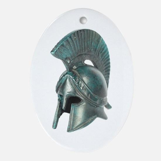 Antique Greek Helmet Oval Ornament