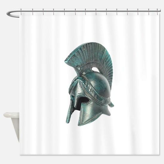 Antique Greek Helmet Shower Curtain