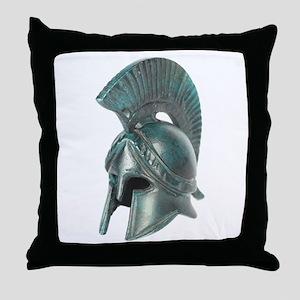 Antique Greek Helmet Throw Pillow