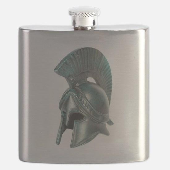 Antique Greek Helmet Flask