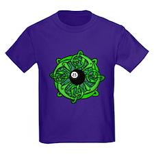 Irish 8 Ball Pool Player St Patr Kids Dark T-Shirt